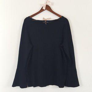 Lane Bryant Black Bell Sleeve Knit Sweater 14/16
